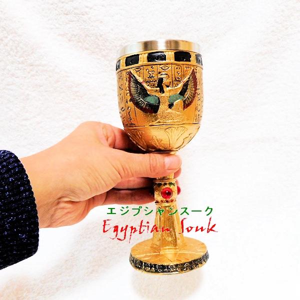 エジプト神イシスの聖杯エジプト置物フィギュア像