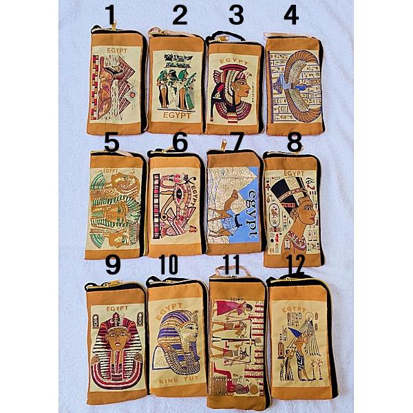 エジプトポーチ・バッグ、エジプトスマホポーチ、小物入れ