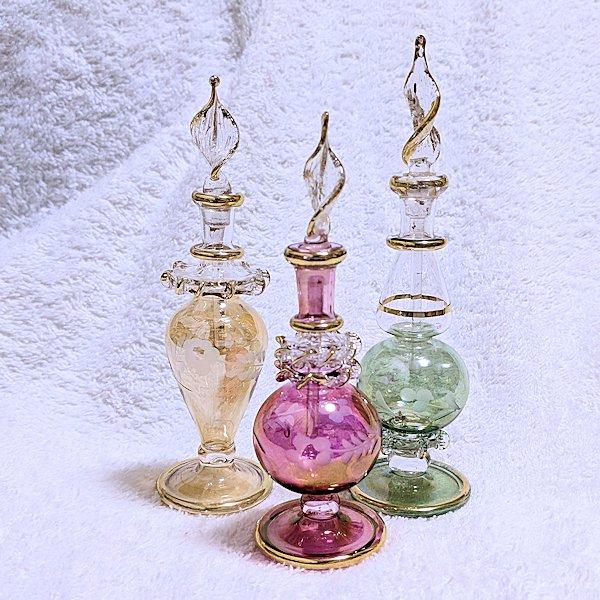 エジプト製オリエンタル香水瓶3本セットC