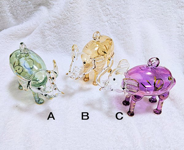エジプトガラス飾り ゾウ