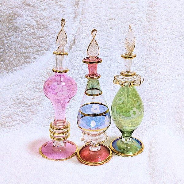 エジプト製オリエンタル香水瓶3本セットD