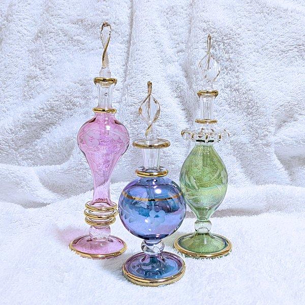 エジプト製オリエンタル香水瓶3本セット